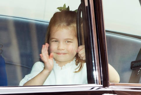 A royal wave from Princess Charlotte.