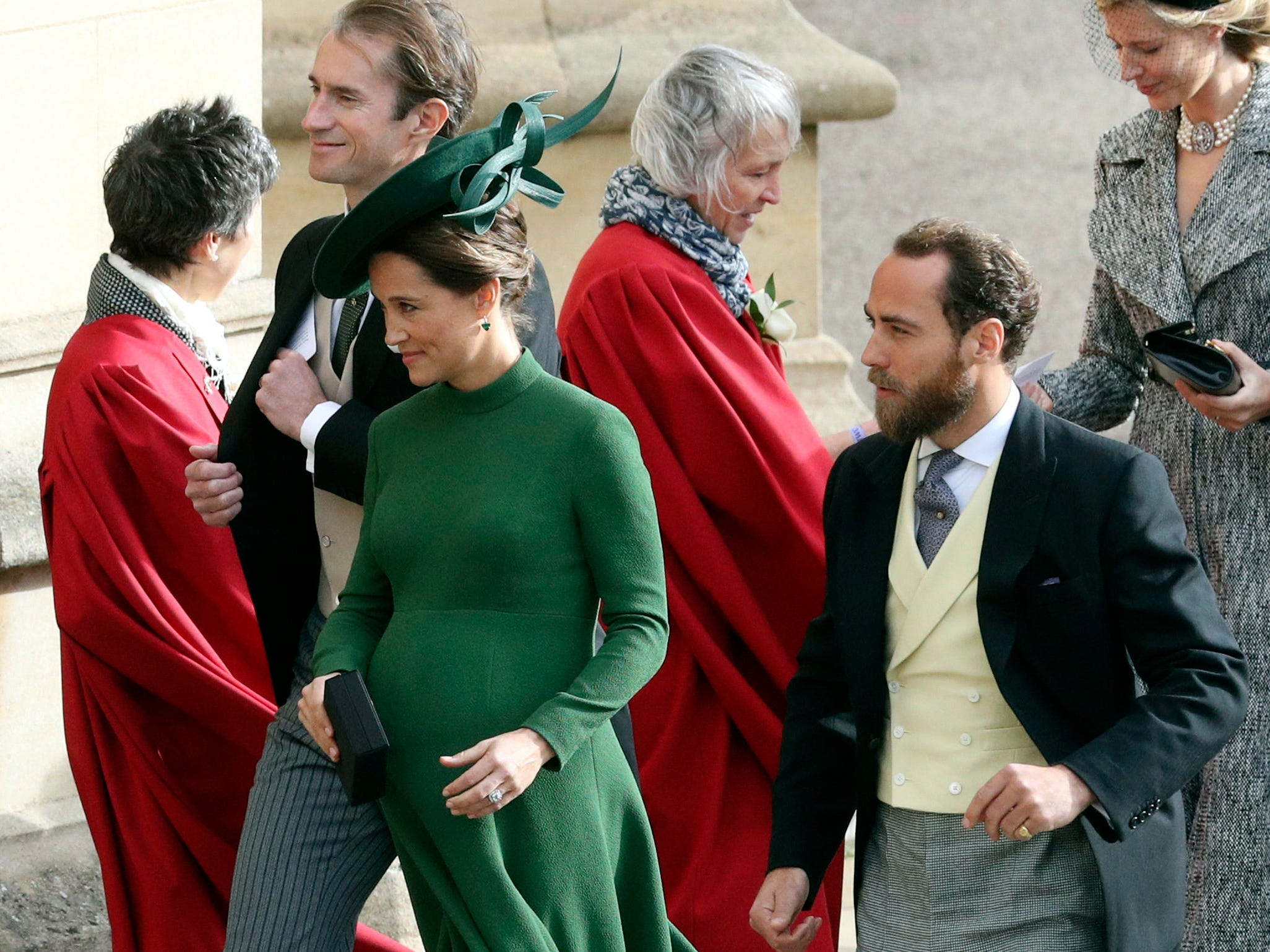 Pippa and James Matthews.