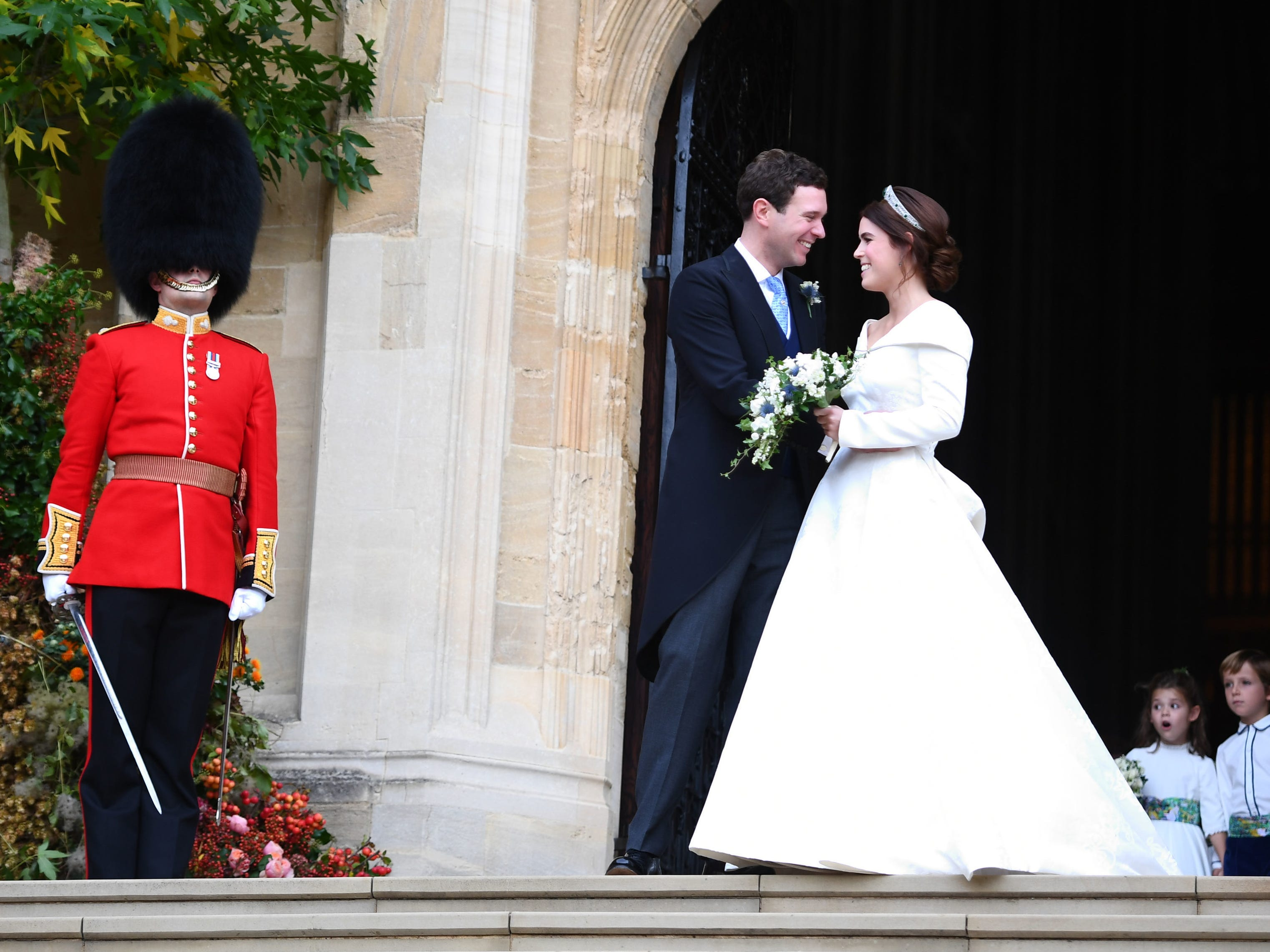 Princess Eugenie of York and husband Jack Brooksbank.