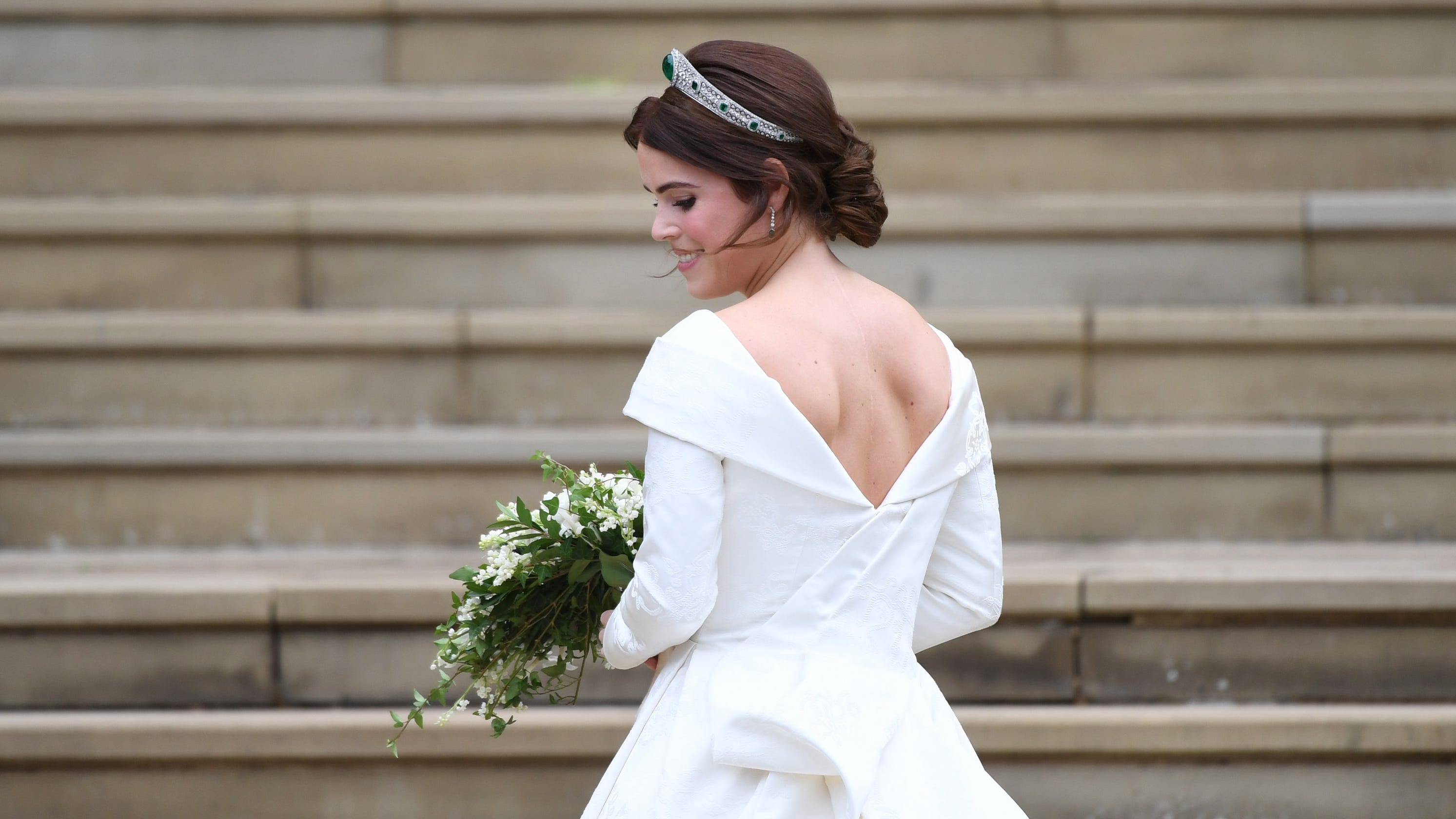 Image result for princess eugenie dress scoliosis