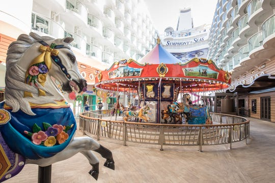 The Boardwalk area on Royal Caribbean's Symphony of the Seas.