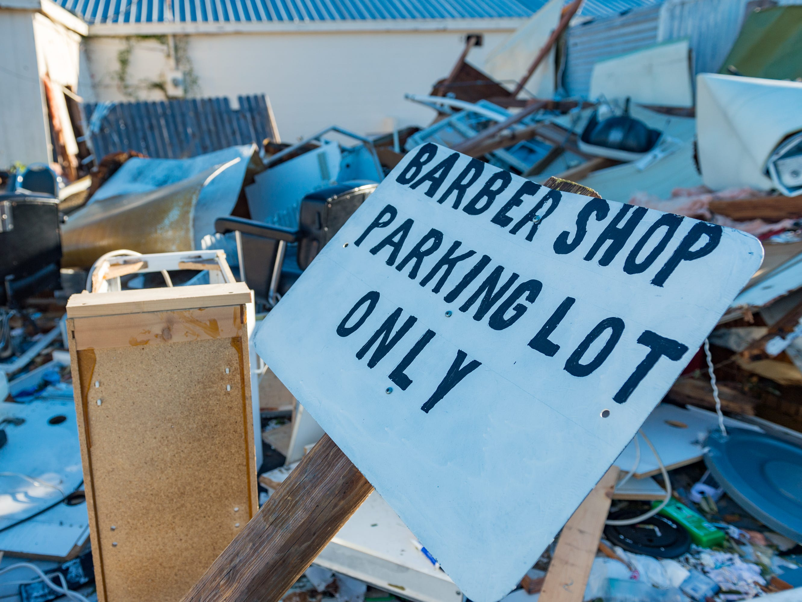 Damage cause by Hurricane Michael in Panama City, Fla. Oct. 12, 2018.