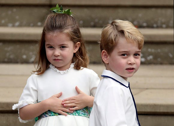 Prince George and Princess Charlotte have proven themselves to be scene-stealers at weddings, and Princess Eugenie's nuptials were no exception.