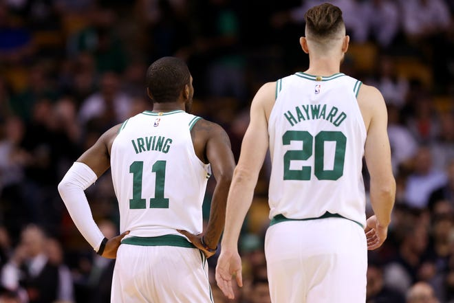 Kyrie Irving and Gordon Hayward shared the court for less than six minutes last season for the Celtics.