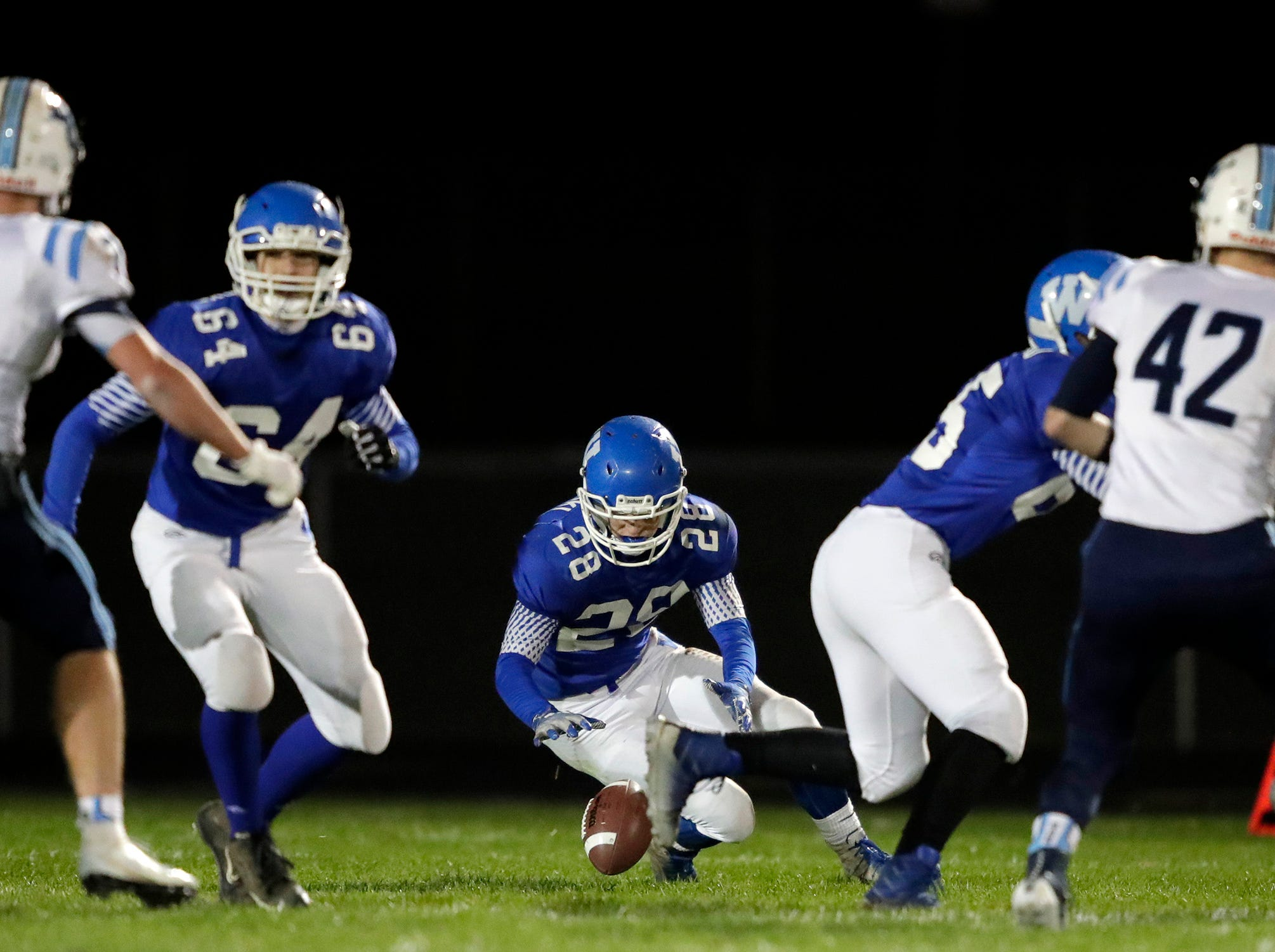 Little Chute High School against Wrightstown High School during their North Eastern Conference football game on Friday, October 12, 2018 in Wrightstown Wis. 