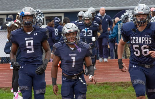 Manasquan Football vs Mater Dei in Middletown, NJ on October 13, 2018.