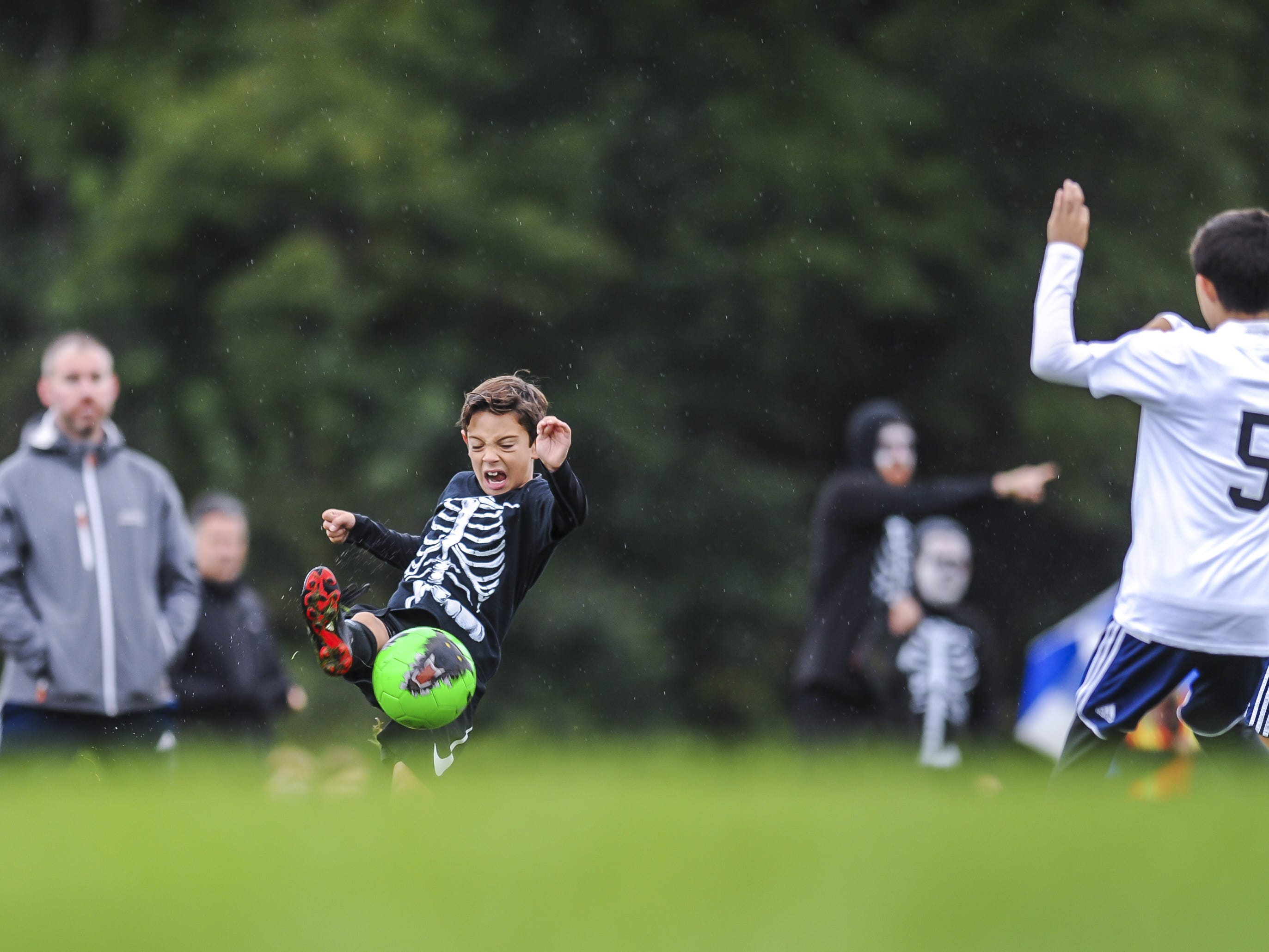 Freehold Soccer League hosted their 20th Halloween-themed Fright Fest Tournament where teams wear Halloween costumes as uniforms and the fields are decked out with spooky decorations  at Michael J. Tighe Park in Freehold on Oct. 13, 2018.