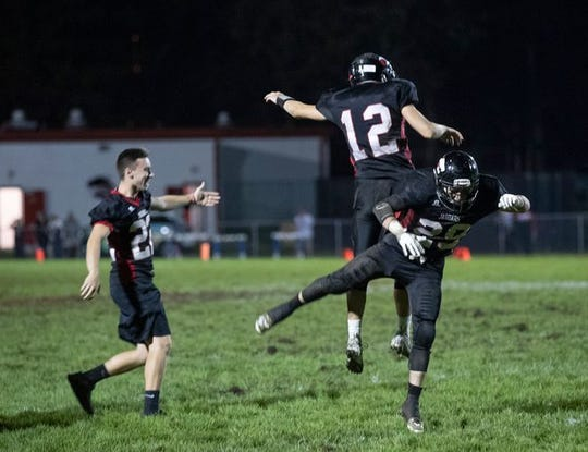 Jackson Memorial, shown celebrating an overtime win over Wall on Sept. 14, will host Brick Friday night in the USA TODAY NETWORK New Jersey Red Zone Road Show Game of the Week