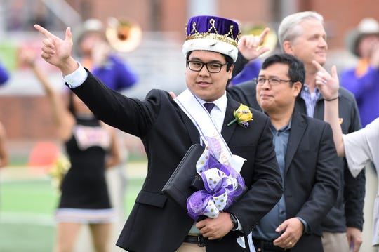 GeJay Pableo, a business administration major with double-minor in marketing and psychology, is the 2018 homecoming king at Hardin-Simmons University. He was presented at halftime of Saturday's football game against Sul Ross.