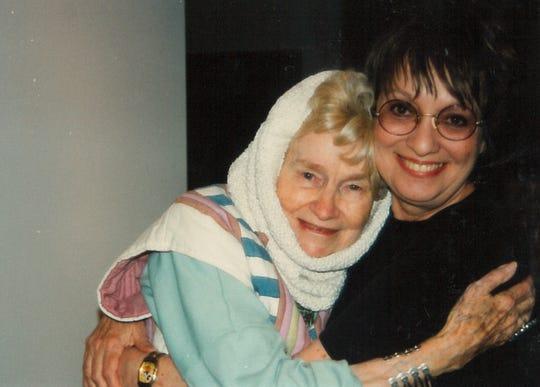 Carol Hall with Juanita Tittle Pollard.