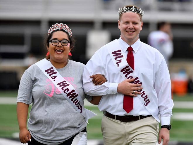 Marissa Rodriquez, a senior criminology major, and Keifer Cokonougher, a senior majoring  multimedia and graphic design, were named the 2018 Ms. and Mr. McMurry on Saturday during homecoming weekend.