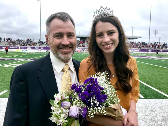 Allison Dennis was chosen homecoming queen for Abilene Christian University. The senior speech language pathology major from Garland was honored at ACU's football game against Nicholls State, with her father, Kevin.