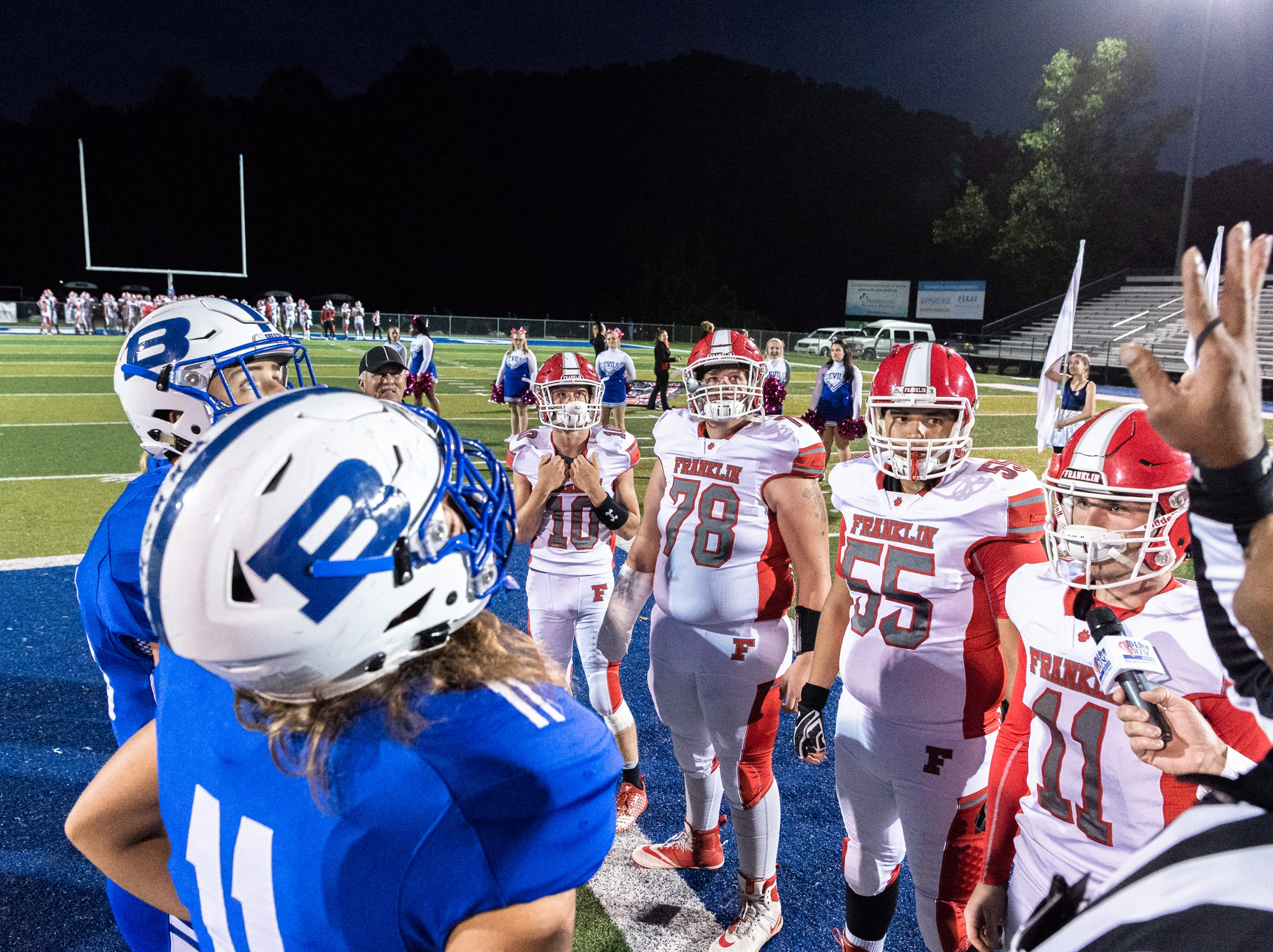 Brevard high school hosted Franklin for their Friday night football game, Oct. 12, 2018.