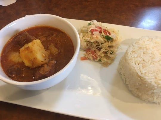 Pork Curry at Shwe Mandalay, a new Burmese restaurant in Battle Creek.