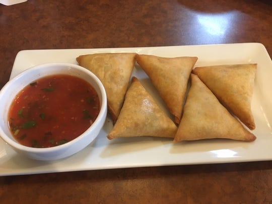 Somasa, an appetizer at Shwe Mandalay, a new Burmese restaurant in Battle Creek.