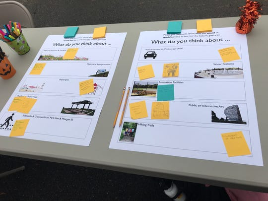 Some of the public's ideas about what should be planned for reuse of the Ross Park entryway.