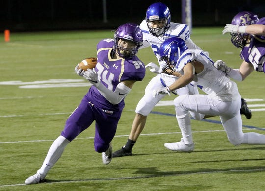 North Kitsap running back Clayton Williams has been used as the Vikings' main outside running threat this season.