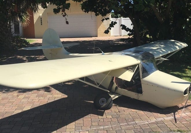 A plane made an emergency landing about noon Oct. 13, 2018,  along a road in Melbourne Beach.