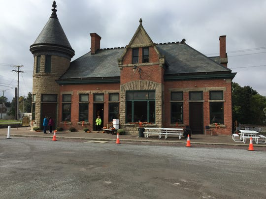 The depot at the Toledo and Ohio Central railroad line has been restored.