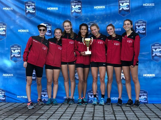 The CVU girls cross-country team took third at Eastern States, the premier race at the prestigious Manhattan Invitational on Saturday.