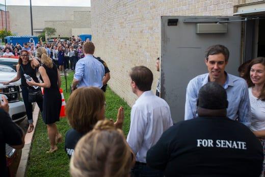 Beto O'Rourke. 13, 2018 at Del Mar College in Corpus Christi.