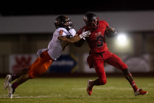 Orange Grove defeated West Oso 50-49 at Bear Stadium Friday, Oct. 12, 2018.