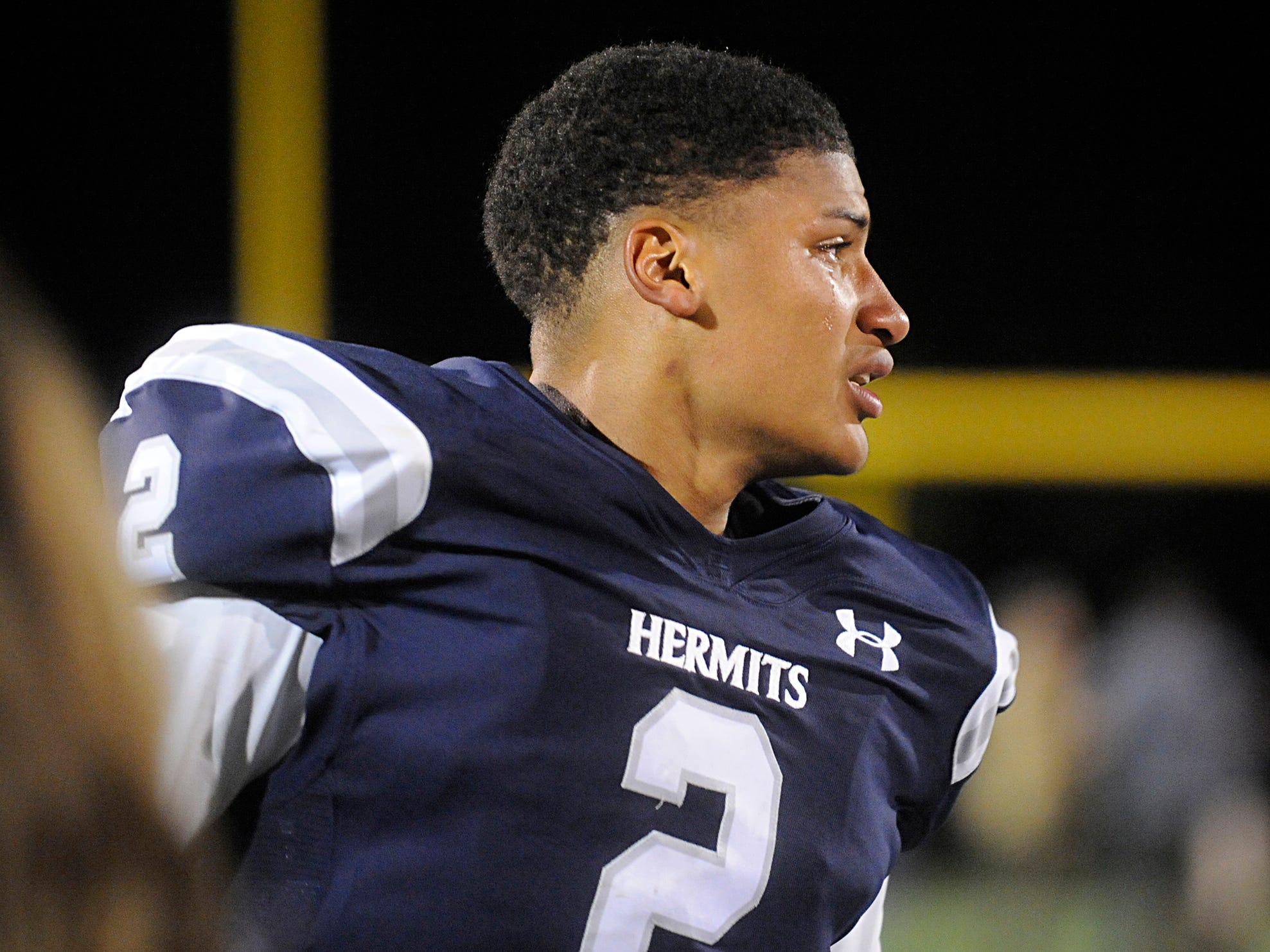 It was a emotional win for St. Augustine's QB, Chris Allen. The Hermits defeated the visiting Spartans, 27-14 on Friday, October 12, 2018.