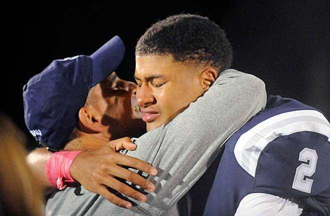 It was an emotional win for St. Augustine's QB, Chris Allen and coach Pete Lancetta. The Hermits defeated the visiting Spartans, 27-14 on Friday, October 12, 2018.