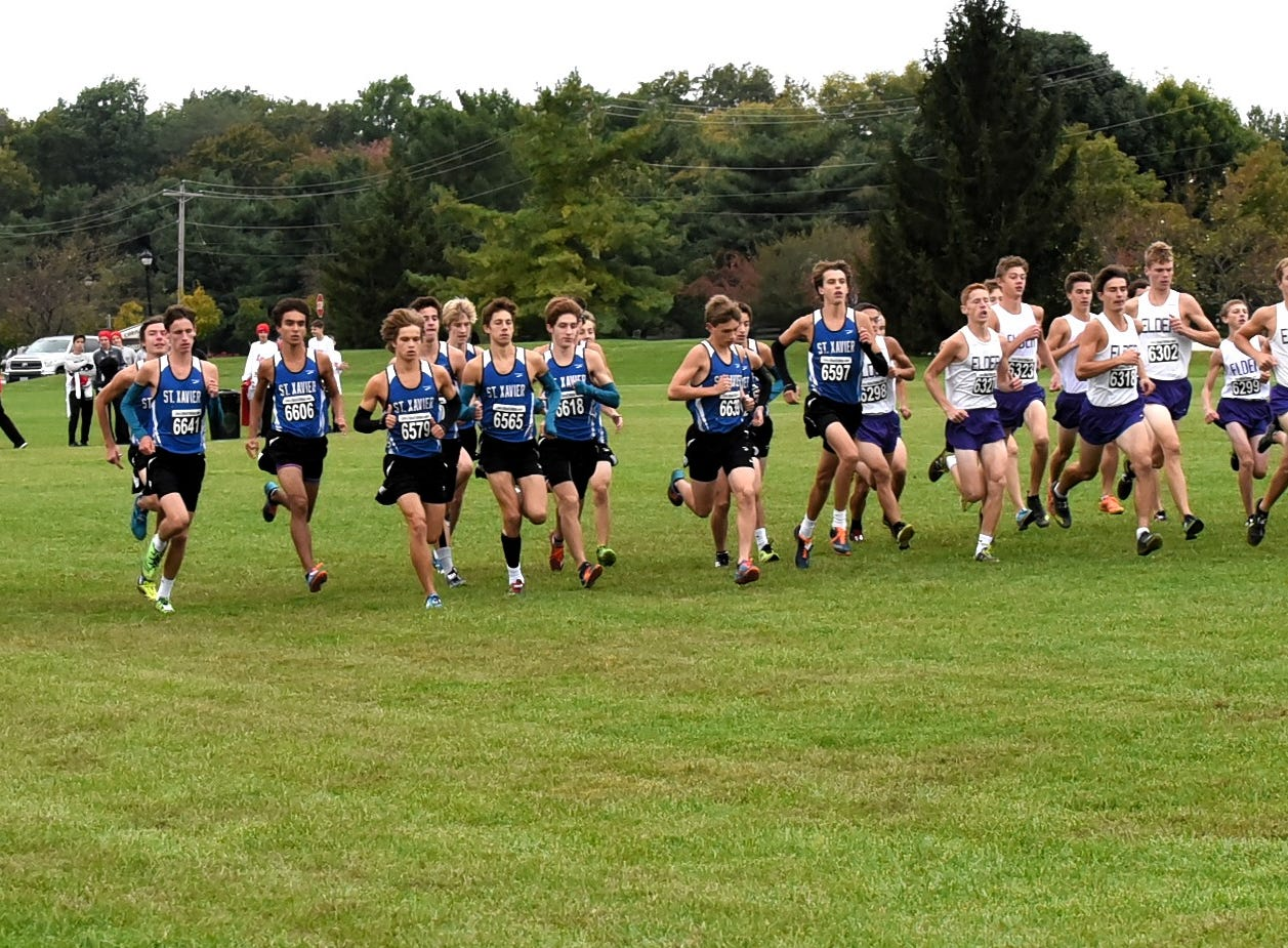 The GCL guys are off and running at the 2018 GCL/GGCL Cross Country Championships, October 13, 2018.