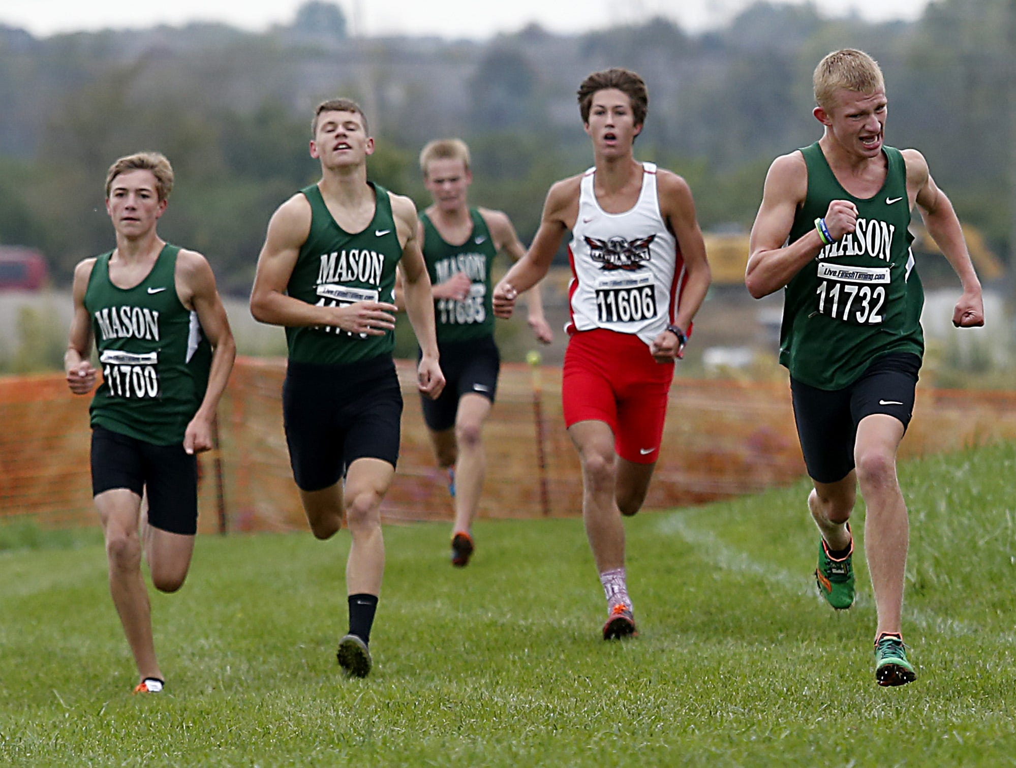 The Mason boys finished first in team points during the Greater Miami Conference Girls and Boys Cross Country Championships at Voice of America Park in West Chester Saturday, Oct. 13, 2018.