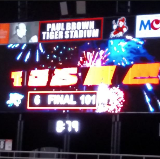 Massillon Washington High School (Ohio) scores 101 points; 56 in second quarter