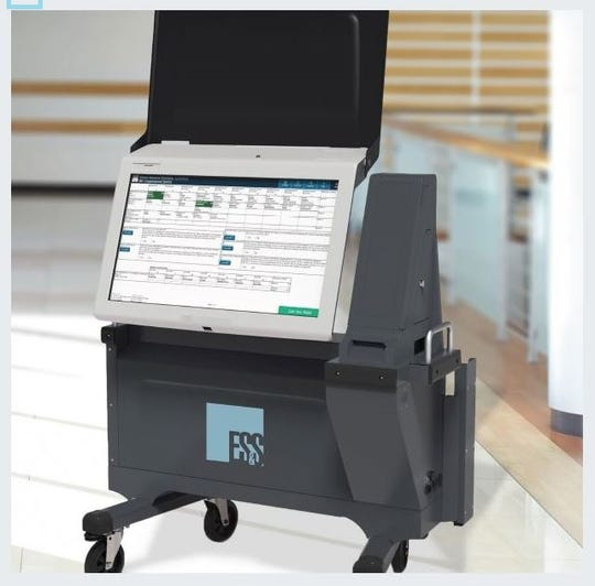Union County's new ExpressVote XL combine a touch screen ballot marking device with a voter verified paper audit trail.