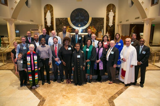 Members of the Union County Interfaith Coordinating Council and others who took part in the fifth annual Union County Day of Prayer on Tuesday, Oct. 9.