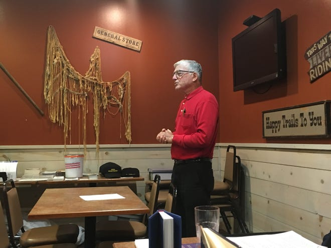 Republican Senator of Iowa Julian Garrett spoke to an audience of about two dozen at the 13th annual Iowa Minutemen rally on immigration about the E-Verify Bill on Saturday.