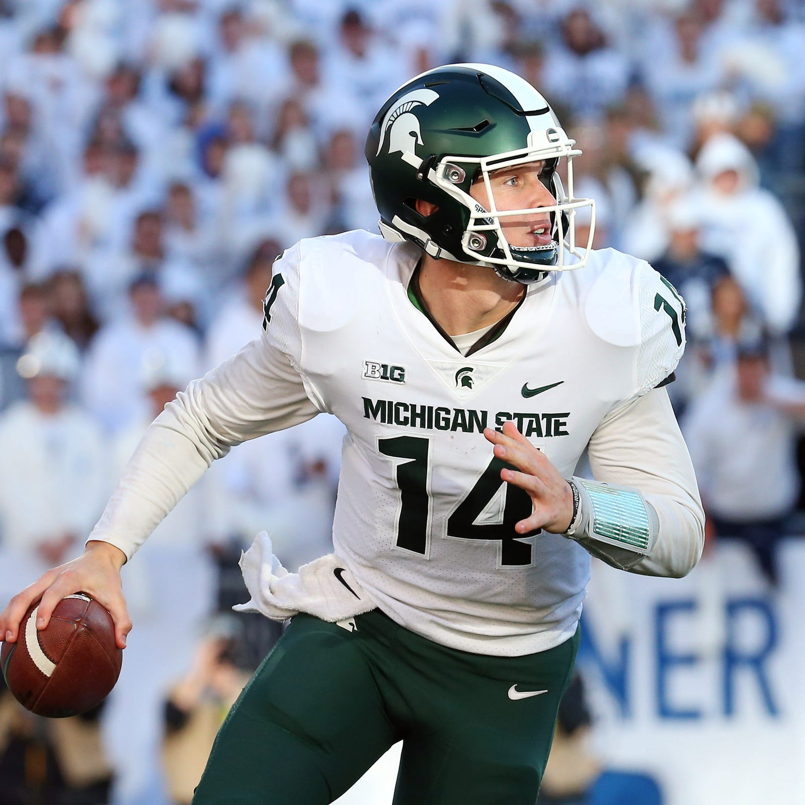 Michigan State's Brian Lewerke now fully aware of Michigan rivalry