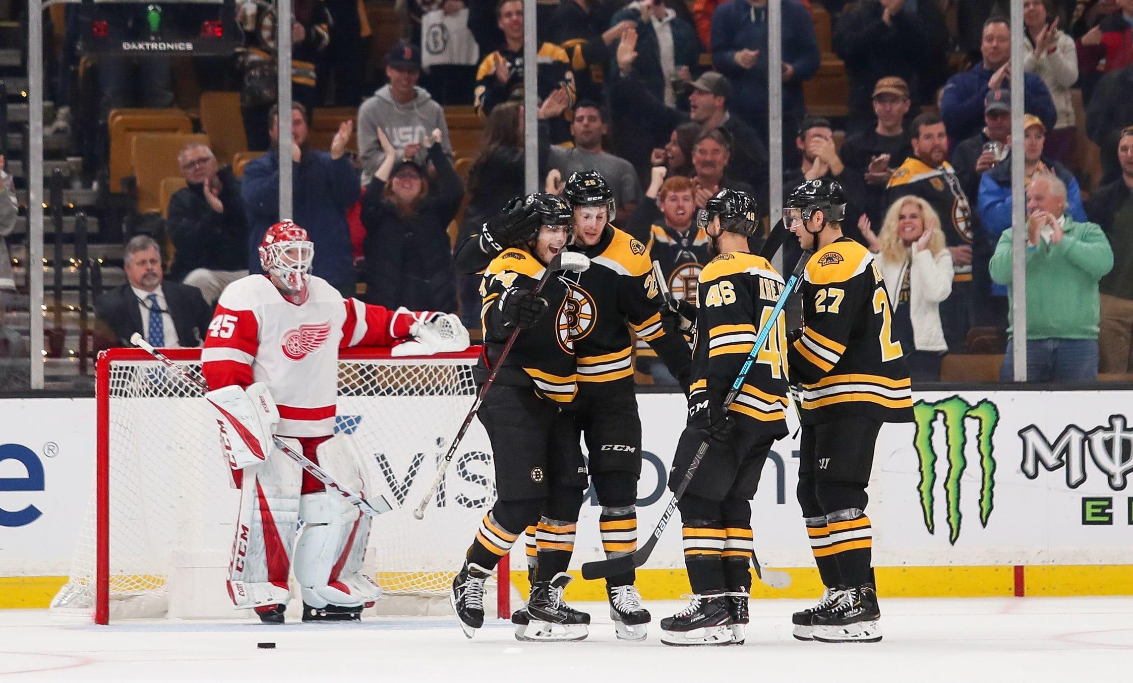 Nhl Detroit Red Wings At Boston Bruins