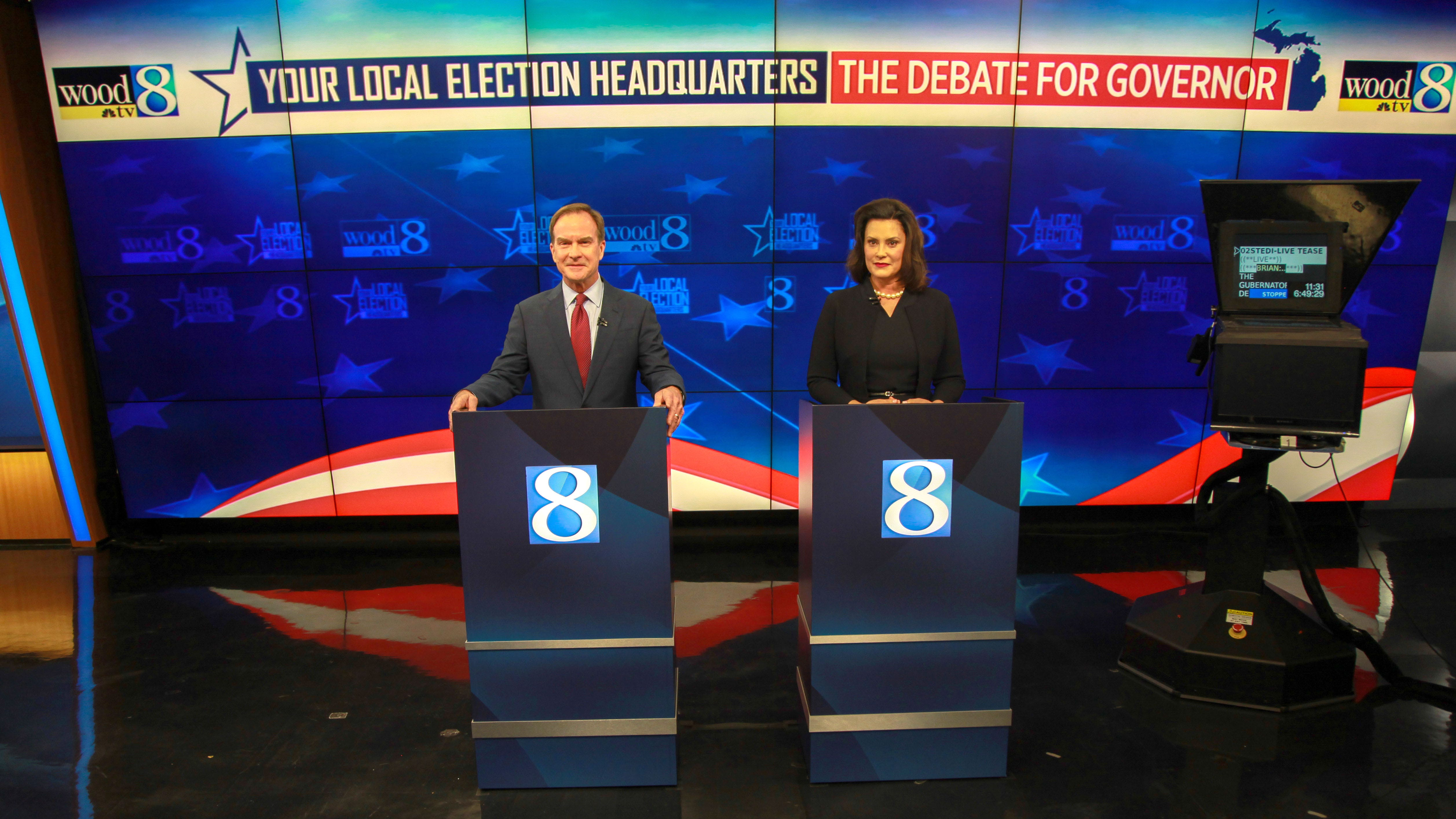 Whitmer and Schuette trade blows in bare-knuckle Grand Rapids debate