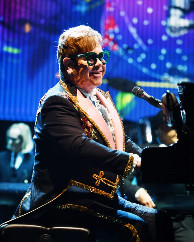 "Elton John brings his  ""Farewell Yellow Brick Road""  tour to Little Caesars Arena in Detroit, Michigan on Friday, October 12, 2018."