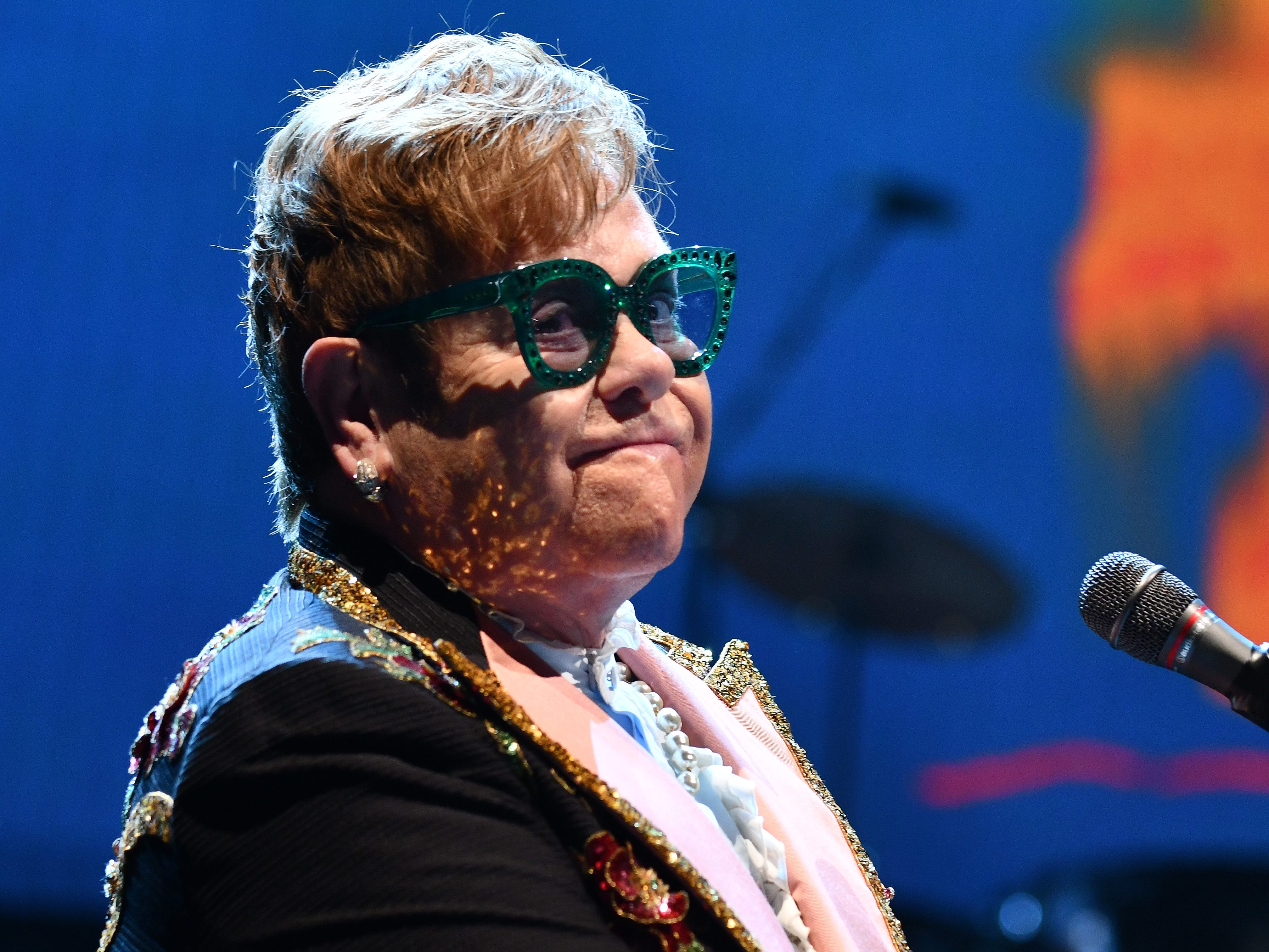 "Elton John brings his  ""Farewell Yellow Brick Road""  tour to Little Caesars Arena in Detroit."