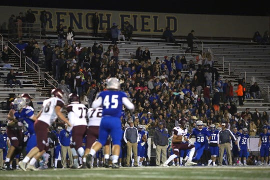 High school football fans watch the action during Poudre High School's game against Horizon on Oct. 12, 2018. Poudre beat the visiting Horizon Hawks by a score of 26-21.