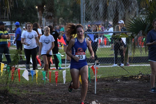 Cape Coral's Cheyenne Young on way to the finish line to win the Lely Invitational in Naples on Saturday, Oct. 13.