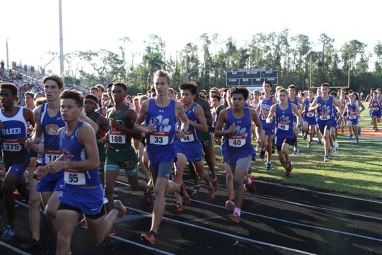 Runners take on the Lely Invitational in Naples on Saturday, Oct. 13.