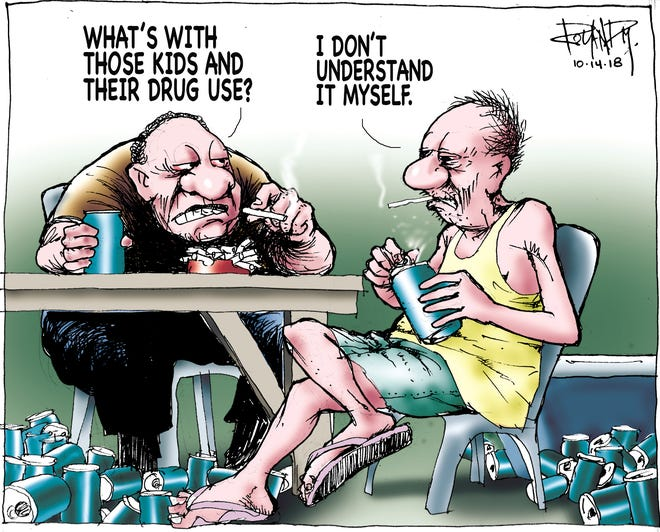 sunday cartoon on preventing youths from using drugs
