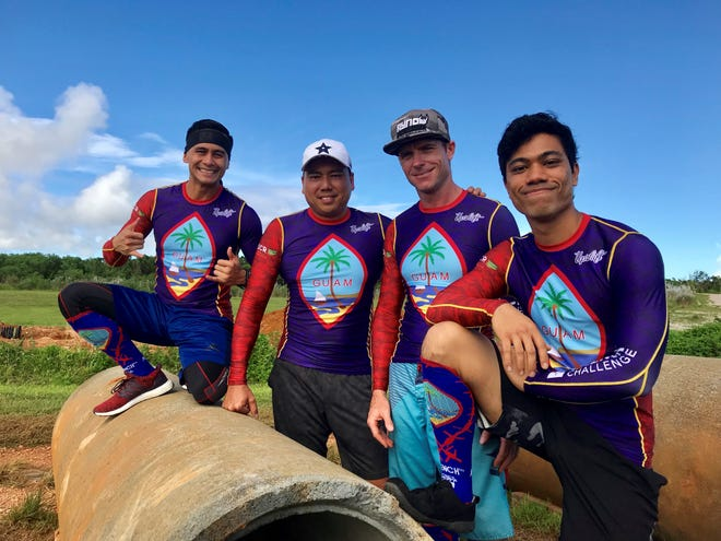 Team Guam is headed to the 2018 Obstacle Course World Championships in London, set for Oct. 19-21. The team is, from left, Billy Navarrete, Tom Akigami, Tim Wenden and Michael Quitugua.