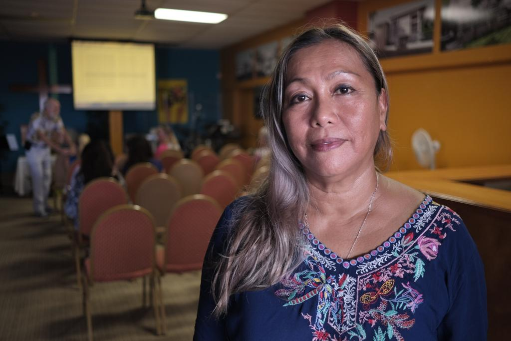 Vangie Cabacar, program coordinator for the Angel Tree Program, has been working with victims of crime for 26 years. She now helps prisoners rebuild relationships with their family members to reduce recidivism on Guam.