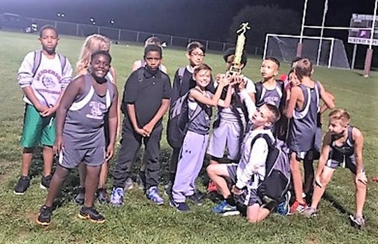 The South Middle School boys team won the boys district cross country championship on Sept. 27