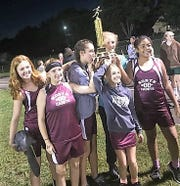 The North Middle School girls won the cross country district championship on Sept. 27.