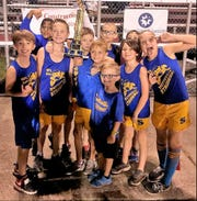 The Spottsville Elementary boys team won the district cross country championship.