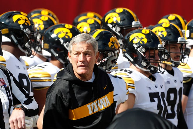 Kirk Ferentz picked up his 148th win at Iowa with a 42-16 pounding of Indiana on Saturday.