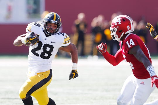 Iowa running back Toren Young shined in his starting role, with Ivory Kelly-Martin injured.